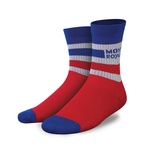 Mons Royale Bike Sock - Chilli/Regatta/Grey