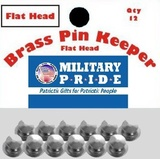 Brass Pin Keepers - Silver | Hats, Caps & Covers | Military