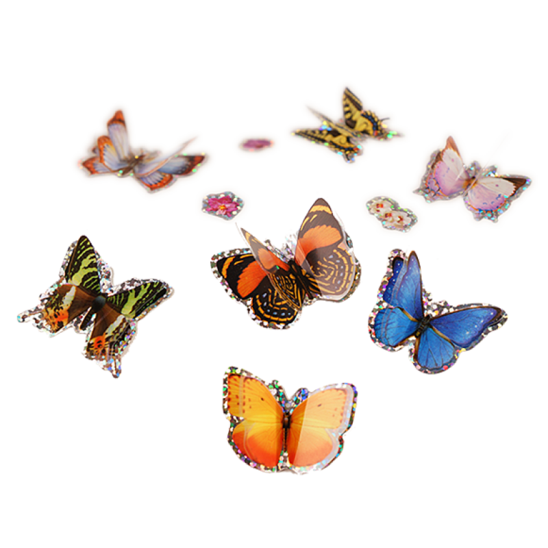 IL 6015 3D BUTTERFLY STICKERS