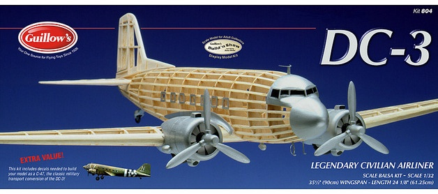 Guillow's #804 1/32 DC-3