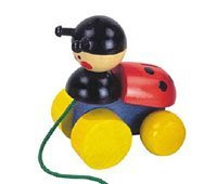 Wooden Toy Co Ladybird Pull Along