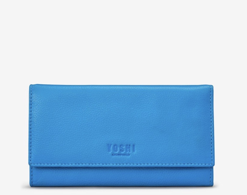Hudson flap over purse. Available in Cobalt & Black