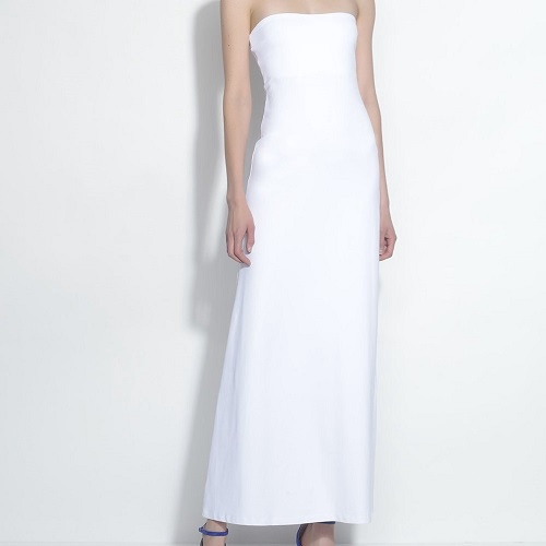 Strapless Maxi Dress | White