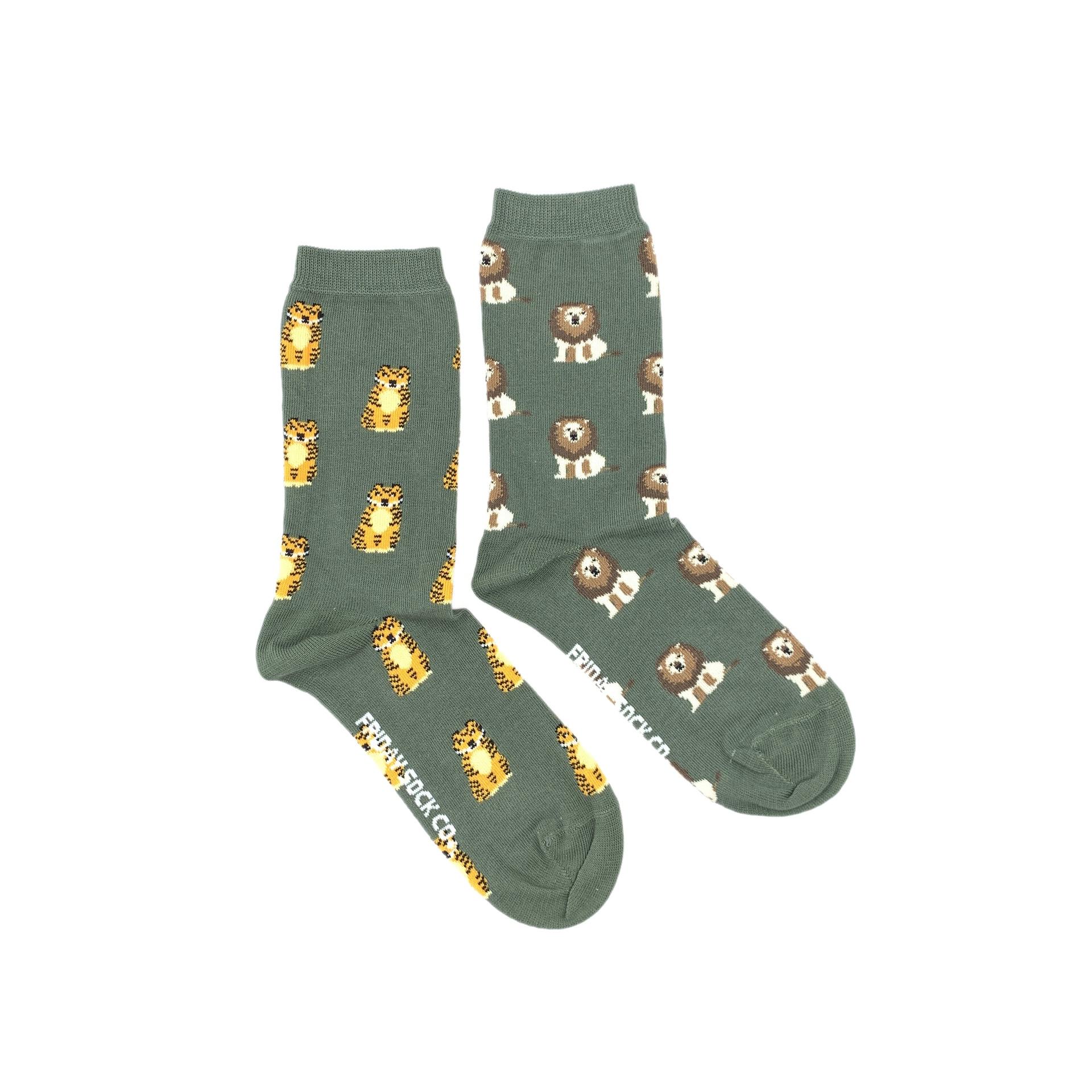 Lion & Tiger Crew Socks