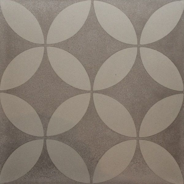 Handmade Tile | Dark Grey Almond Flowers Mosaic