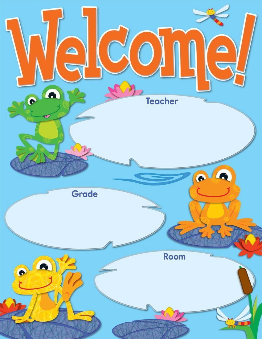 X DC CD 114192 FUNKY FROGS WELCOME CHART