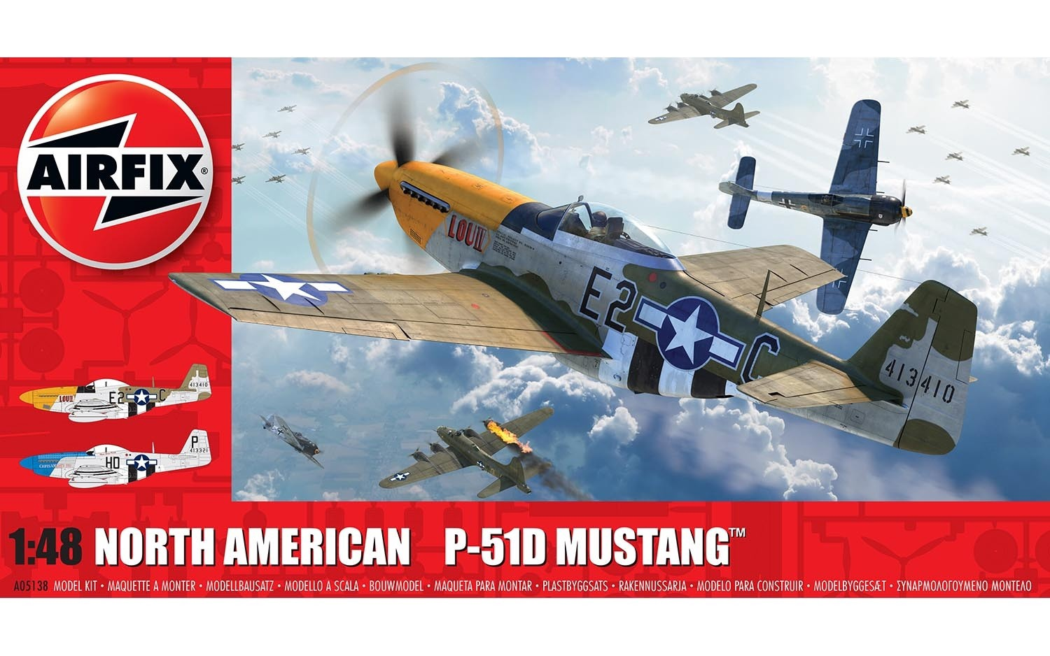 Airfix #A05138 1/48 North American P-51D Mustang
