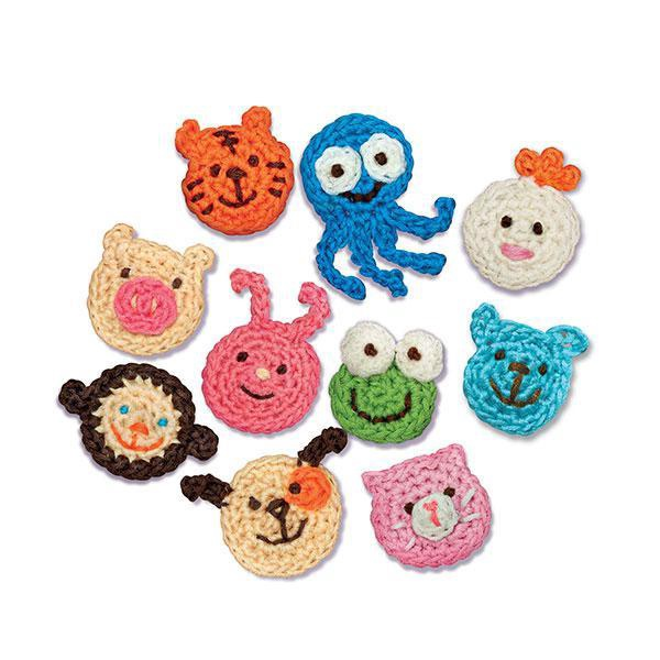 CROCHET ANIMAL BROOCHES