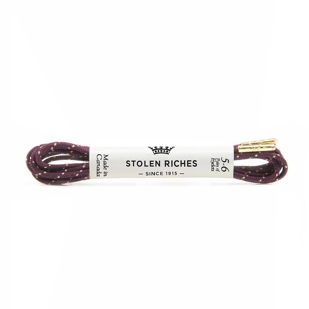 STOLEN RICHES - DRESS LACES (5-6 EYELETS) IN CAMBRIDGE MAROON