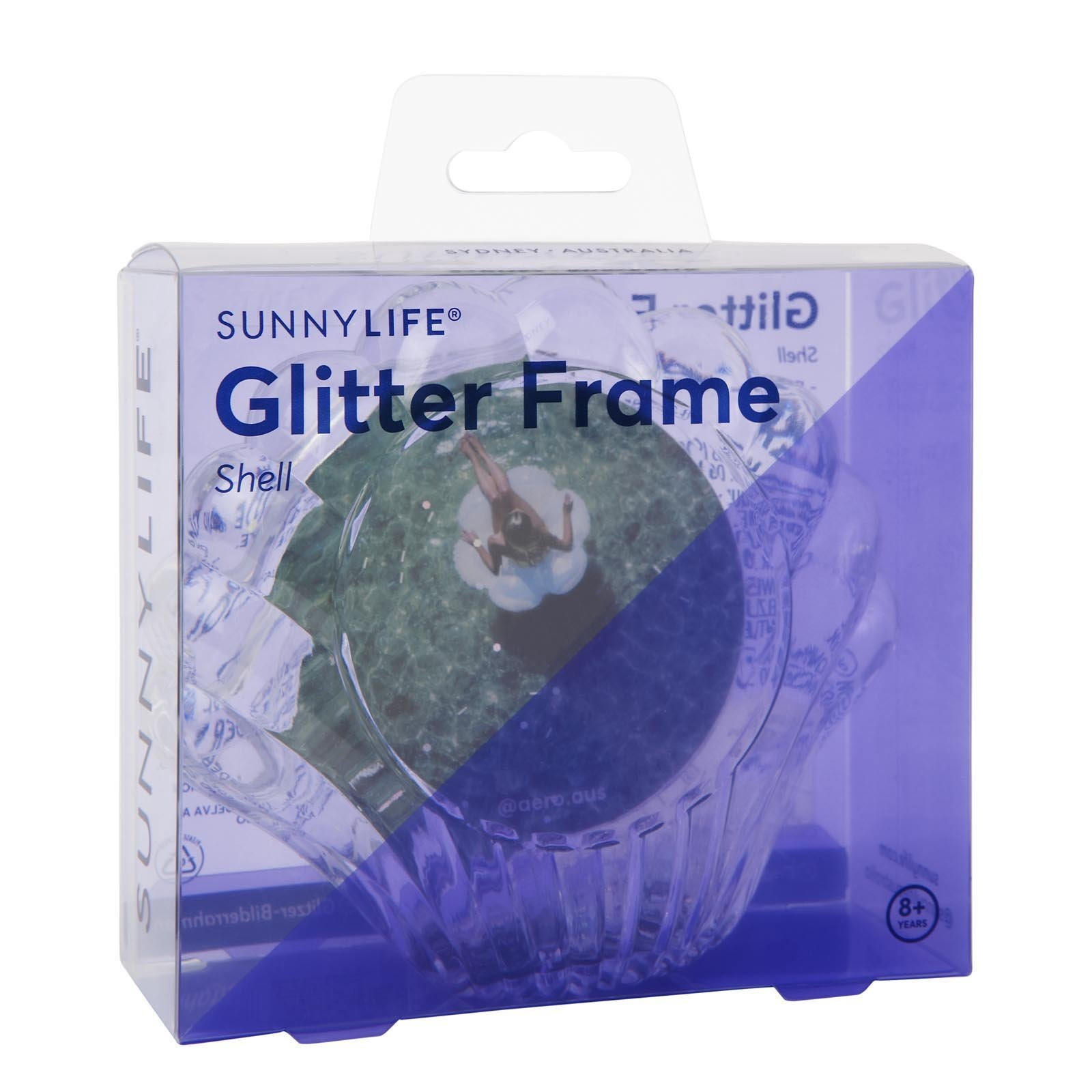 Sunny Life Shell Glitter Picture Frame