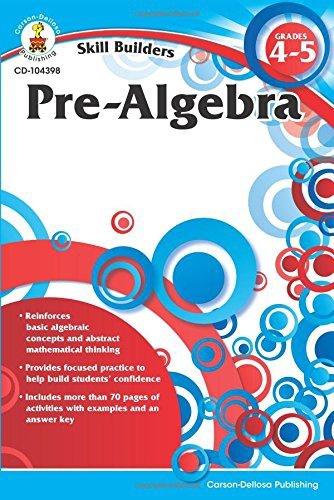 CD 104398 SKILL BUILDERS PRE-ALGEBRA G4-5