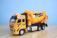DIE CAST PULL BACK ACTION CONCRETE DELIVERY TRUCK