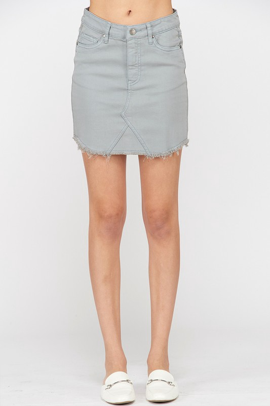 Lt. Grey Denim Skirt