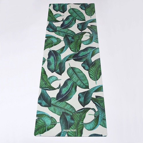 Tropical Leaf Yoga Mat