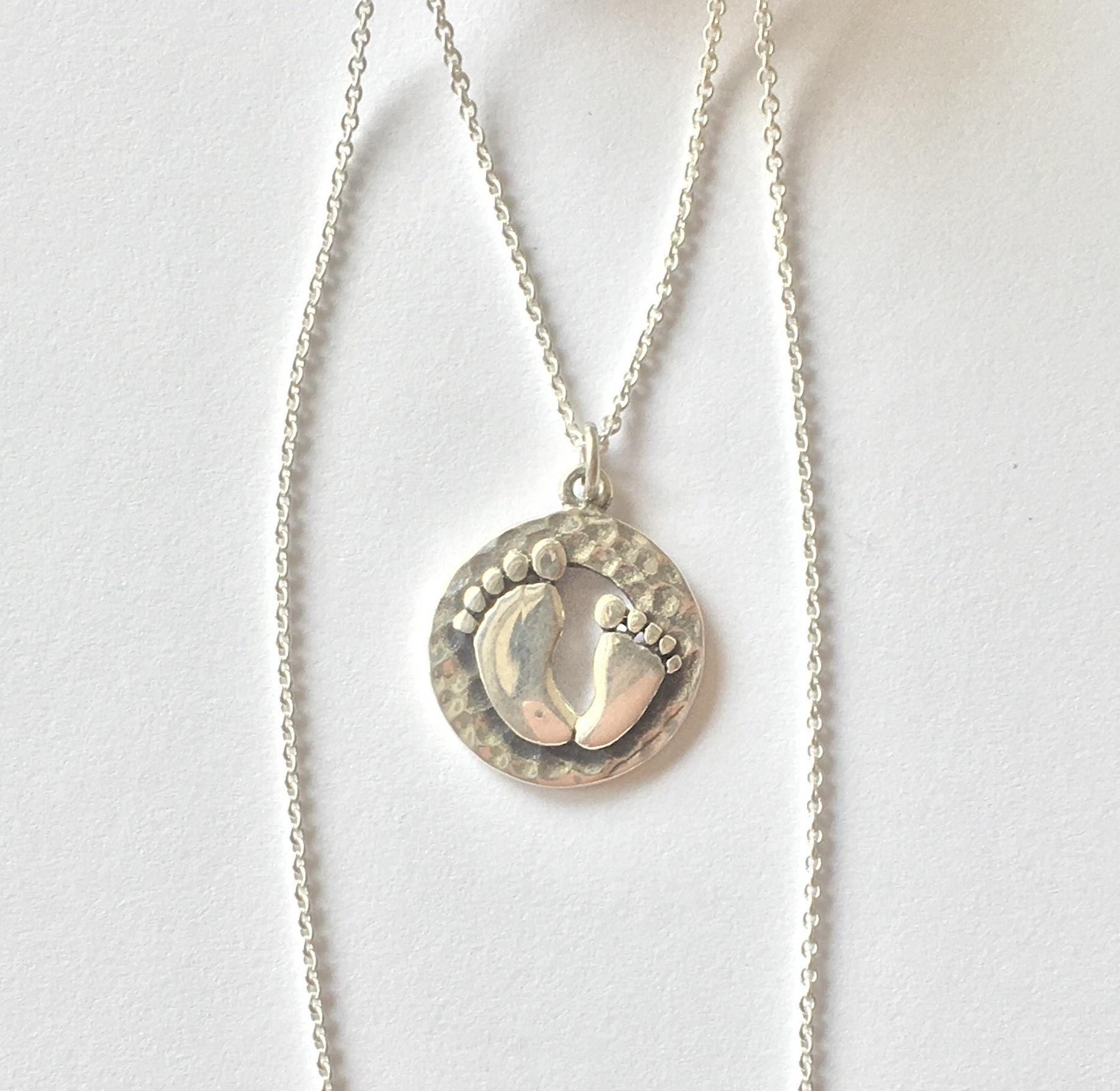 Annabella Moore -Baby footprint Necklace