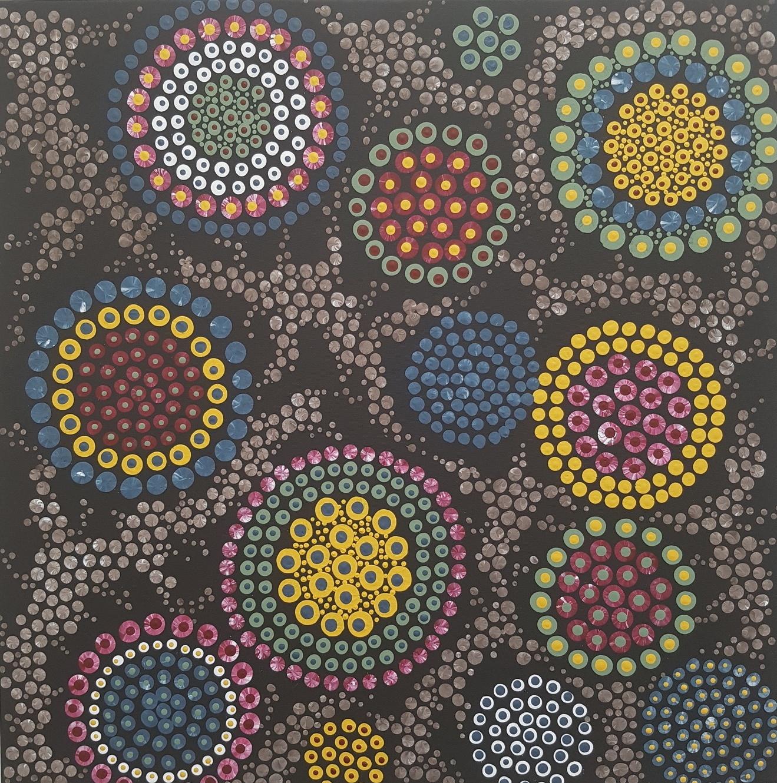 3D dot painting: Flower Circles