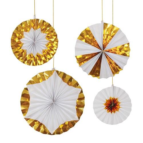 Giant Gold Foil Pinwheels