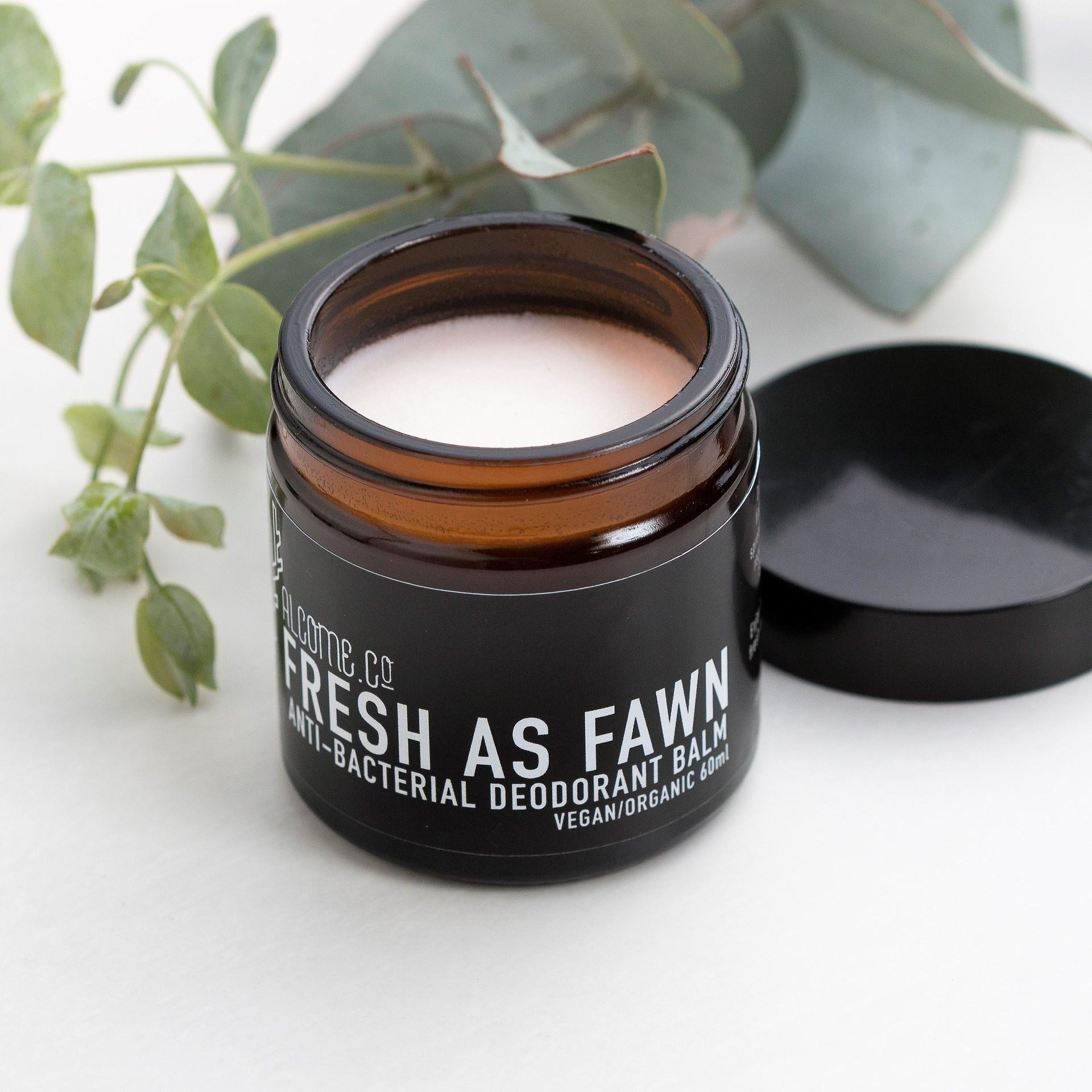 Organic Deodorant Balm / Fresh as Fawn / Normal Skin Types / Vegan Organic Natural