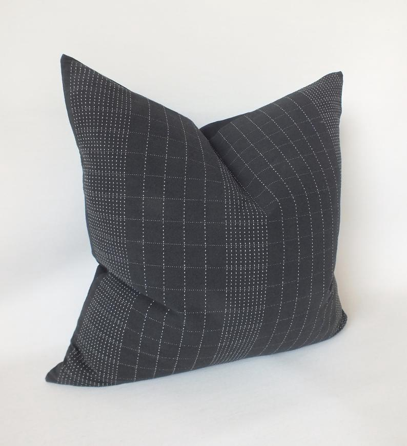 Black & White Stripe Pillow