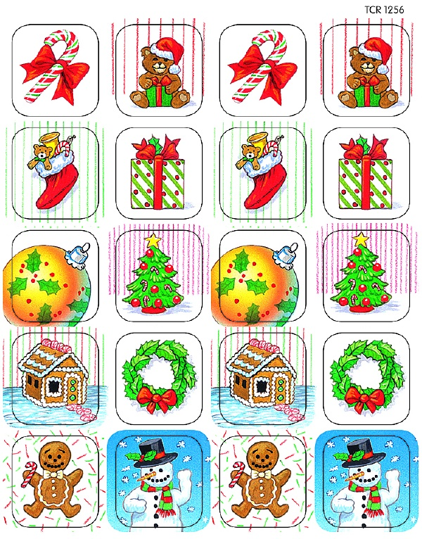 TCR 1256 CHRISTMAS STICKERS