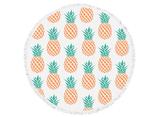beach bella pineapples round towel