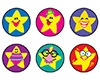 T 46157 SILLY STARS SPOTS STICKERS