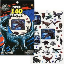 JURASSIC WORLD 4 SHEET TATTOO BOOK