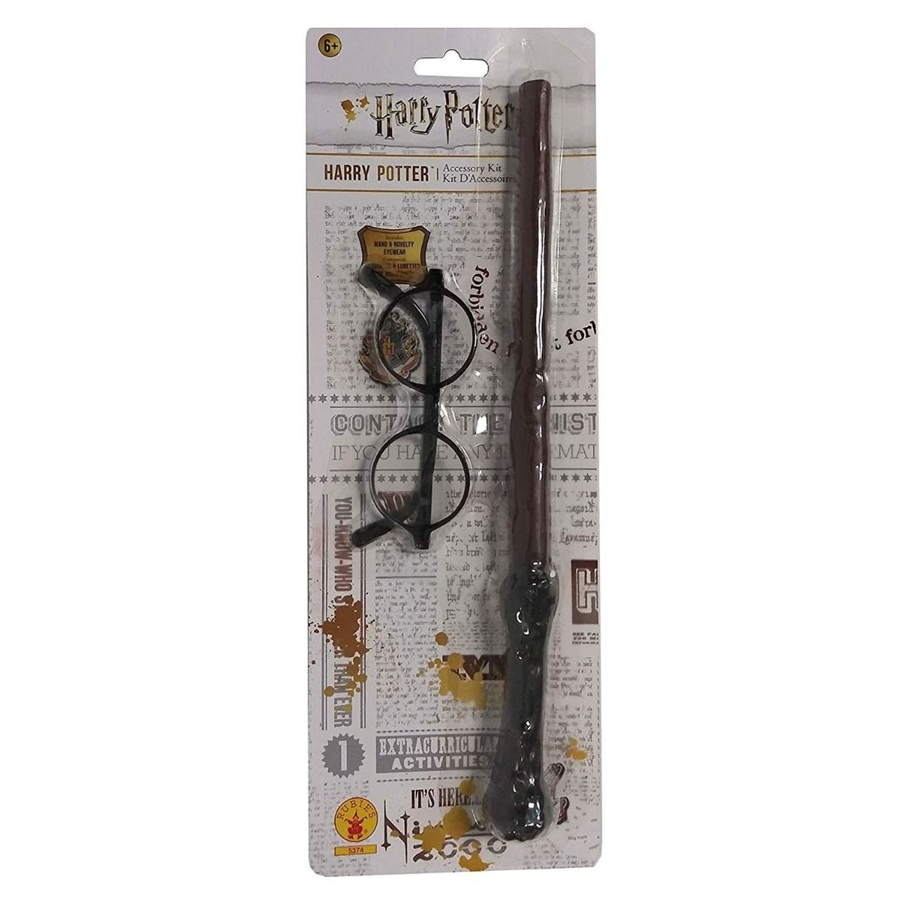 HARRY POTTER GLASSES AND WAND COSTUME ACCESSORY KIT