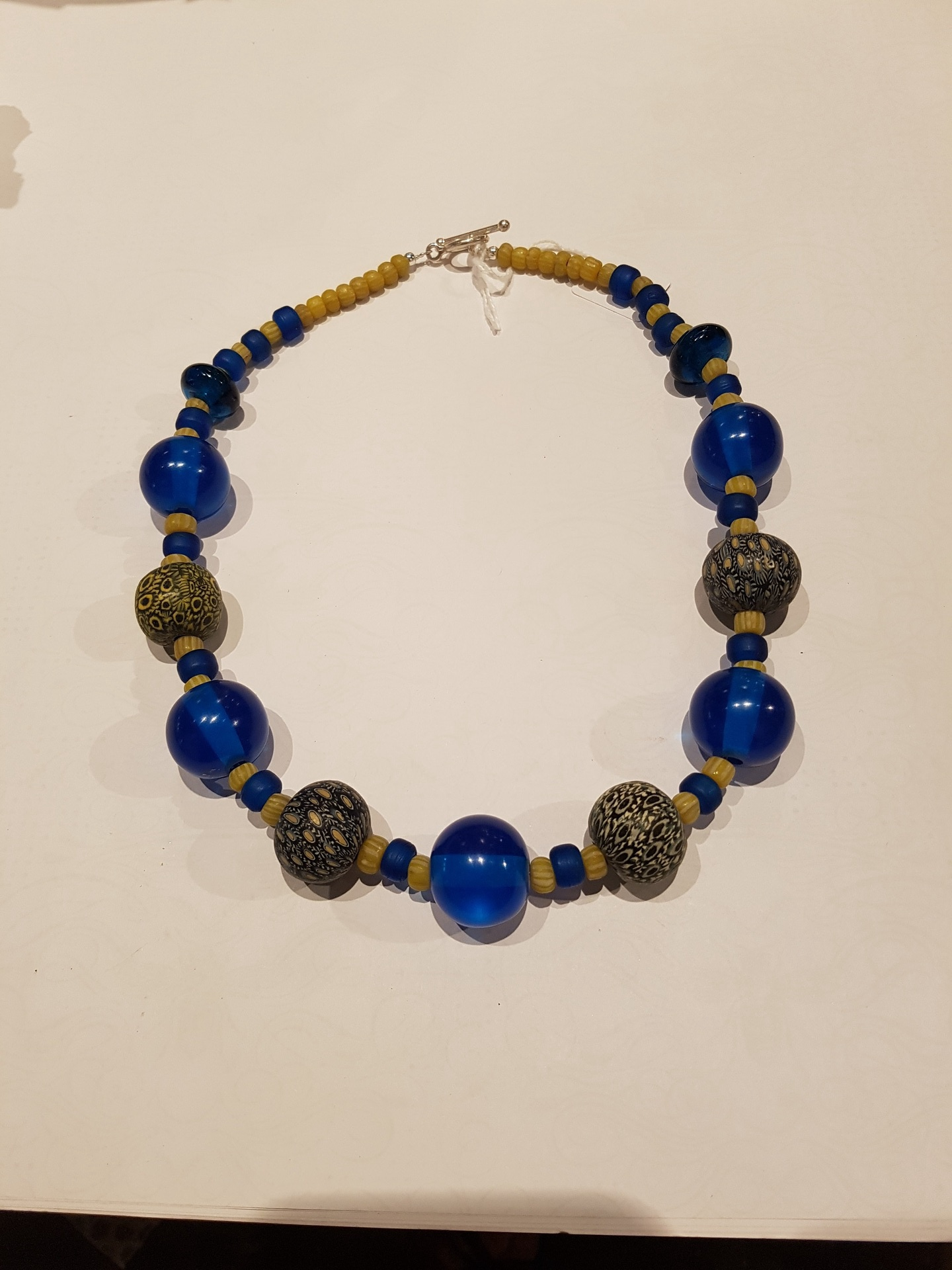 Hand Made Necklace with Indonesian Beads