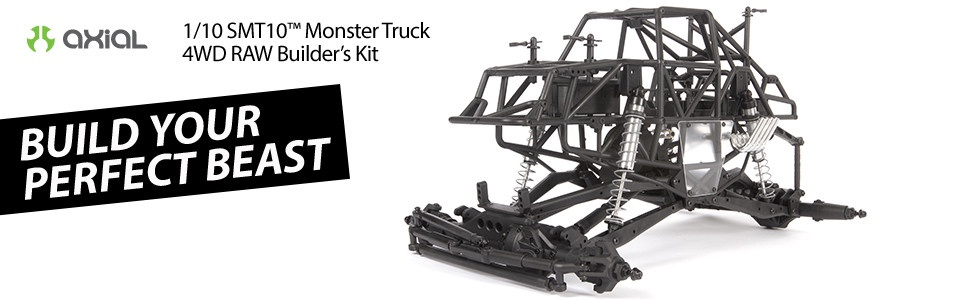 Axial #AX103020 SMT10 Raw Builders Monster Truck Kit
