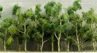 JTT Trees #95617 Green Trees (7.6cm - 9cm) 9pcs