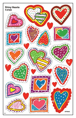 T 37005 SHINY HEARTS STICKERS