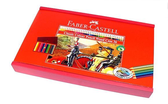 FABER-CASTELL CLASSIC COLOUR PENCIL WOOD CASE 36