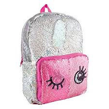 S.LAB MAGIC SEQUIN BACKPACK-SILVER HOLO & WINK