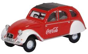 Oxford #76CT007CC 1/76 Citroen 2CV 'Coca Cola'