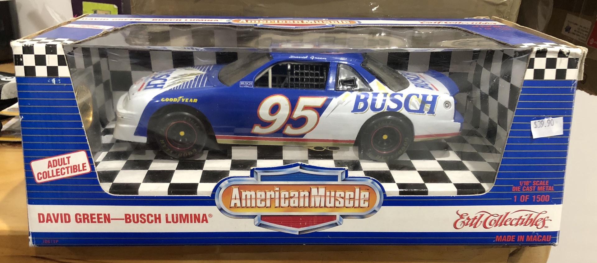 American Muscle # 7087TP . 1/18 David Green  Busch Lumina