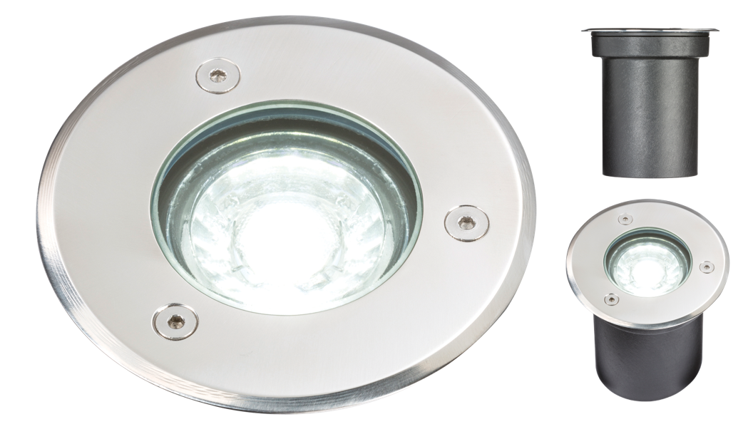 230V IP65 3W LED GROUND/DECK LIGHT- 6000K