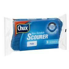 Chux Scrub Kitchen Non Scratch 3pk