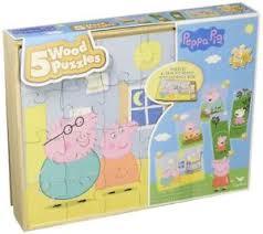 PEPPA PIG 5 WOOD PUZZLE