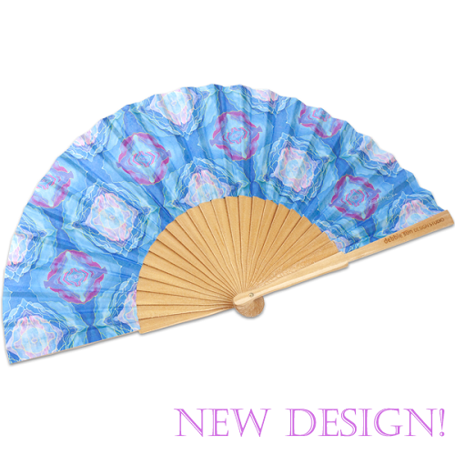Hand Fan | Dreamy Blue