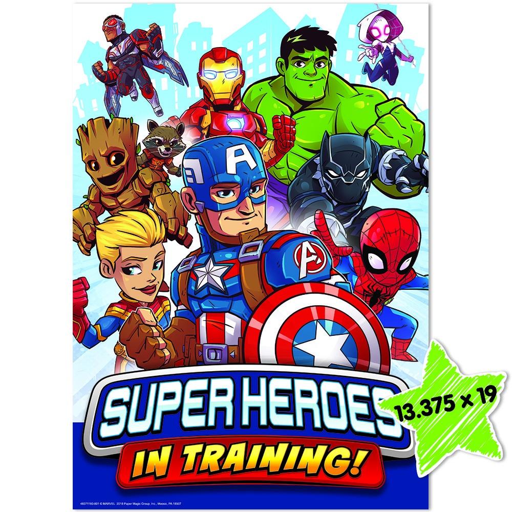 EU 837116 MARVEL SUPER HERO IN TRAINING POSTER