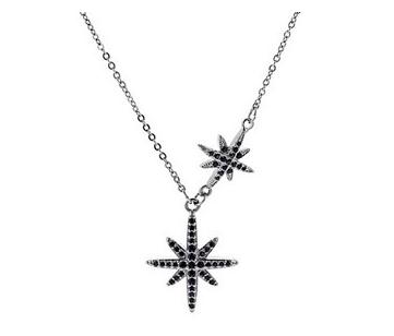 Black Star Necklace 58326