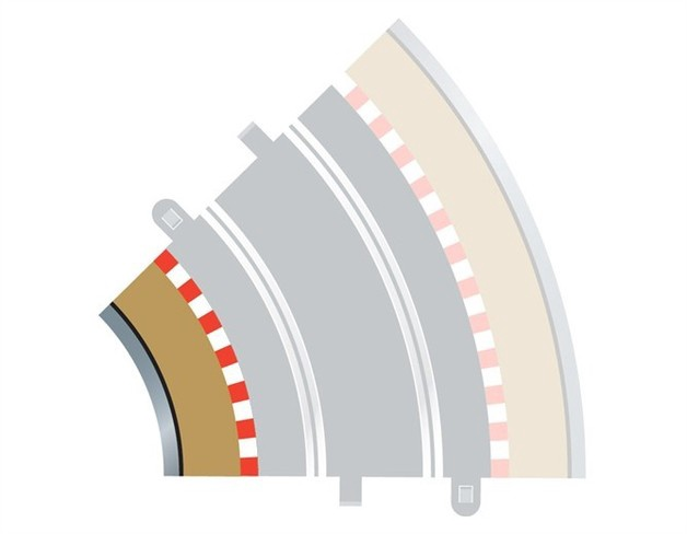 Scalextric # C8225 Radius 2 Curve Inner Boarders