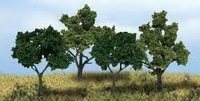 Woodland Scenics #TR1570  38 Deciduous Trees- Mixed Green