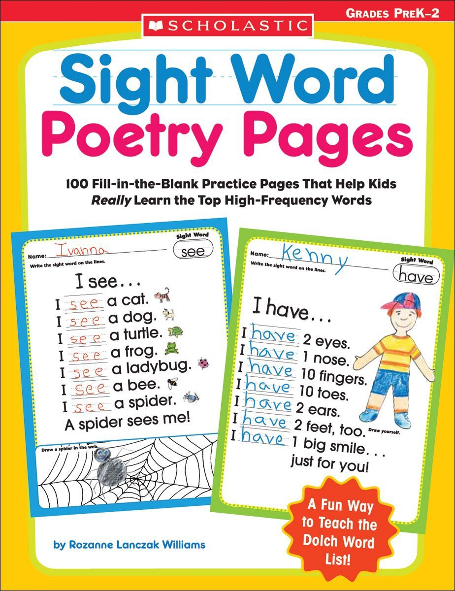 X DC SC 0439554381 SIGHT WORD POETRY PAGES