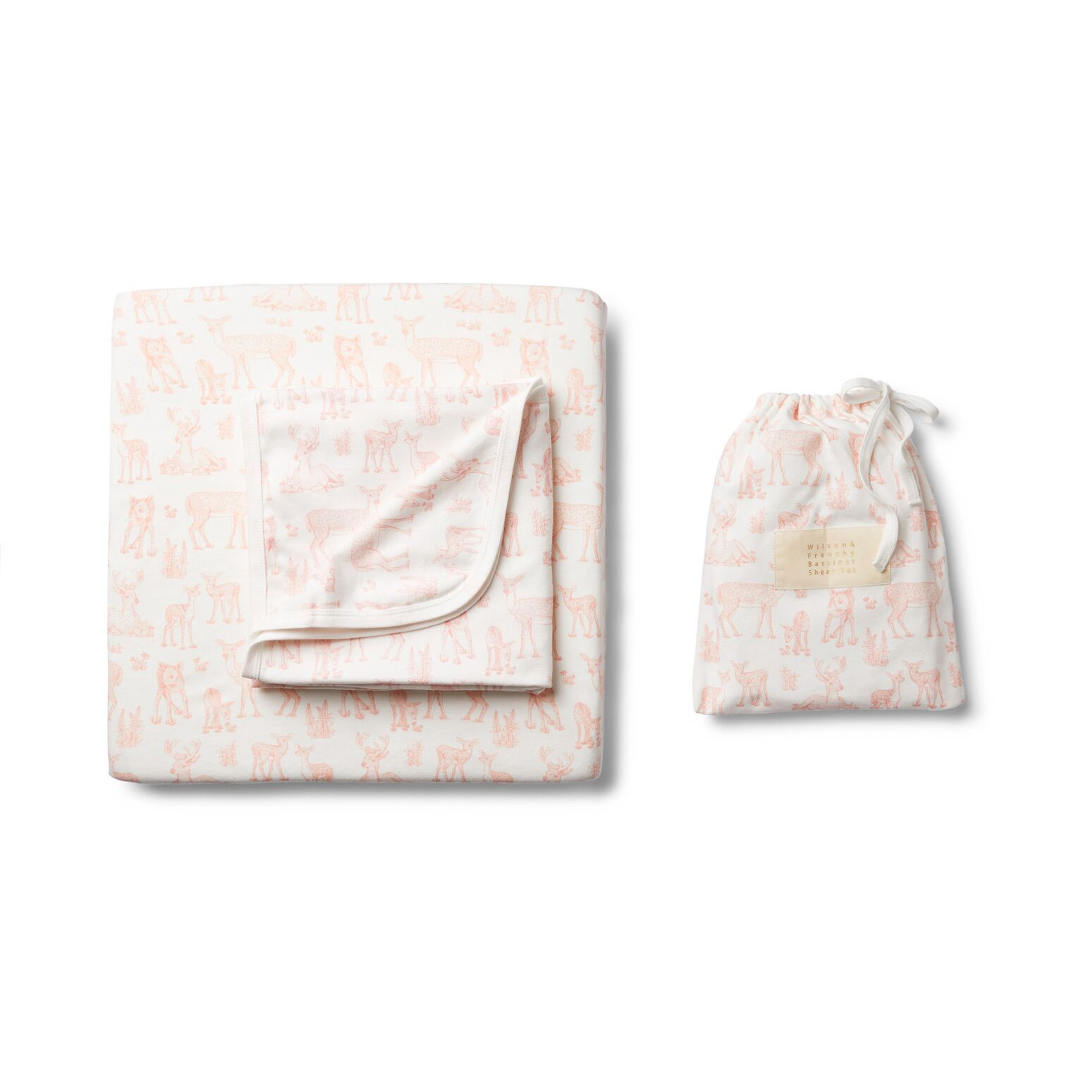 WF Oh dear bassinet sheet set