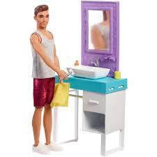 BARBIE SHAVING KEN WITH BATHROOM