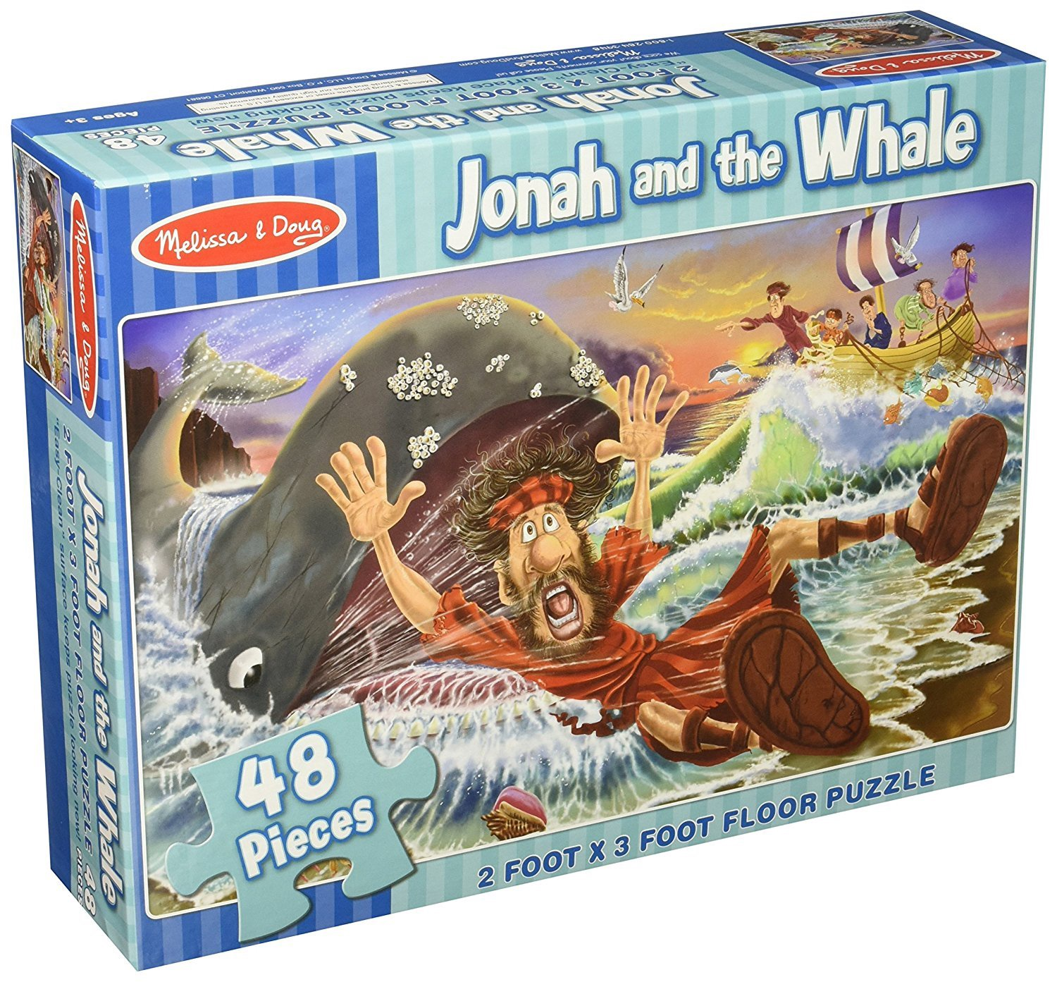 MD 4495 JONAH & THE WHALE FLOOR PUZZLE