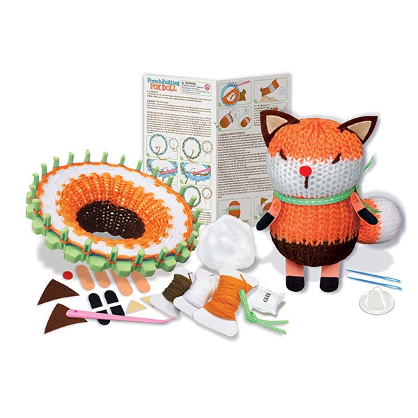 FRENCH KNITTING FOX DOLL