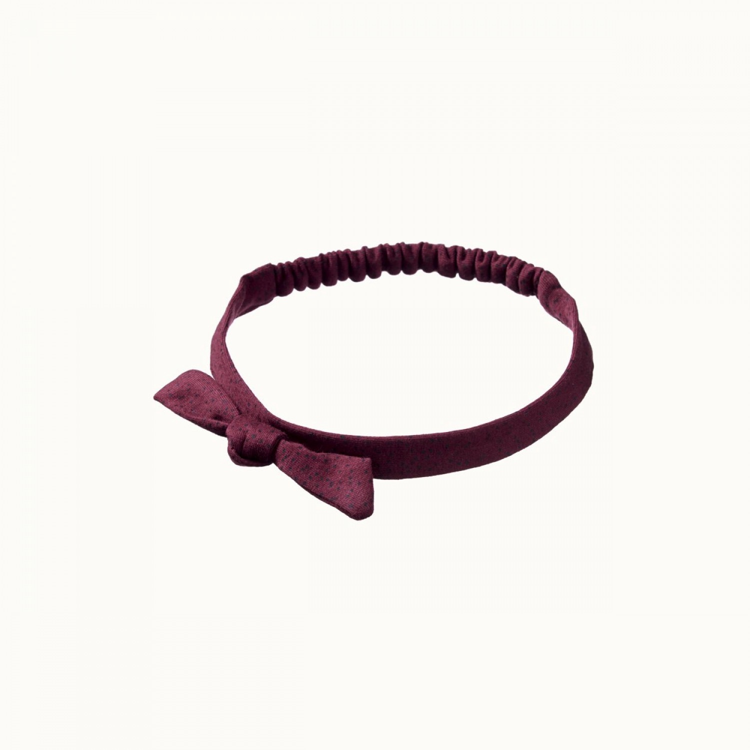 SMALL BOW HEAD BAND - SMALL SPECKLE MULBERRY